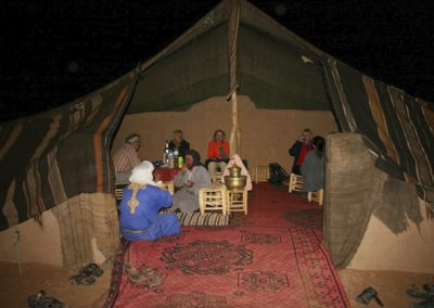 A look into a nomadic tent